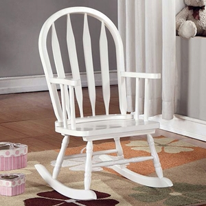 Benevolence Rocking Chair for Kids - Arrow Back, White
