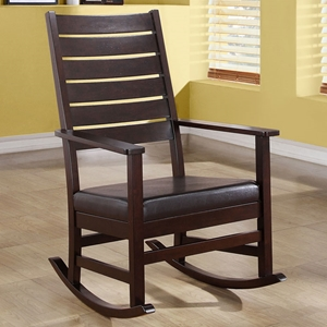 Dignity Contemporary Rocking Chair - Slat Back, Cappuccino