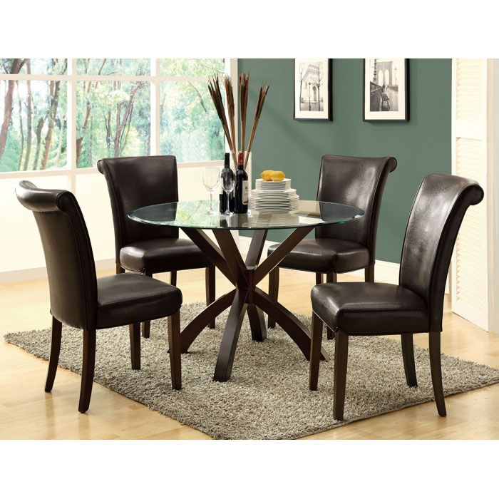 Modesty Rollback Dining Chair - Dark Brown (Set of 2) - MNRH-I-1665BR