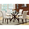 Modesty Rollback Dining Chair - Taupe, Tapered Legs (Set of 2) - MNRH-I-1666TP