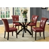 Modesty Rollback Dining Chair - Burgundy, Tapered Legs (Set of 2) - MNRH-I-1667BY