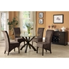 Spontaneity Rollback Side Chair - Swirl Pattern, Brown (Set of 2) - MNRH-I-1788BR