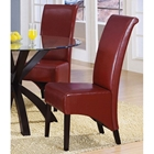 Reverence Rollback Side Chair Dark Brown Dcg Stores