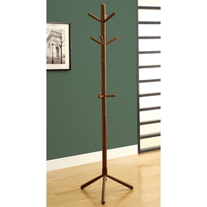 Glory Contemporary Coat Rack - Wood, Oak Finish