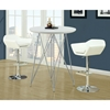 Blithe Round Top Bar Table - Chrome Base, Glossy White - MNRH-I-2346