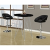 Soiree Adjustable Swivel Bar Stool - Chrome, Black - MNRH-I-2305
