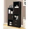 Dulcet Tall Storage Unit - Open Shelves, Drawers, Cappuccino - MNRH-I-2533