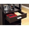 Dulcet Tall Wine Rack - Open Shelves, Cappuccino - MNRH-I-2543