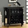Dulcet Bar Cabinet Wine Rack Side Shelves Cuccino Mnrh I