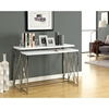 Martell 2 Piece Nesting Console Tables Set - Chrome, White - MNRH-I-3027