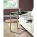 Imagine Snack Table / Laptop Stand - Cappuccino, Silver Metal - MNRH-I-3073