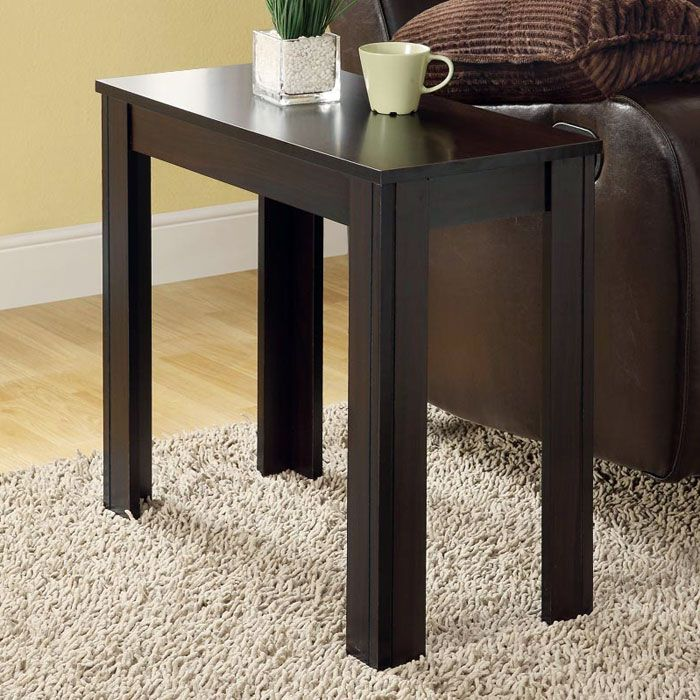 Adagio Contemporary Side Table - Cappuccino Finish - MNRH-I-3111