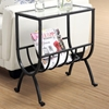 Charisma Side Table with Magazine Storage - Stardust Brown - MNRH-I-3308