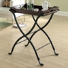 Daedalus Serving Tray Table - Cherry, Charcoal Black - MNRH-I-3323