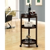 Beatitude Server Cart - Removable Tray, Caster Wheels, Cappuccino - MNRH-I-3344