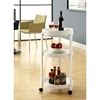 Beatitude Server Cart - Removable Tray, Caster Wheels, White - MNRH-I-3345