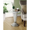 Michaelson Mirror End Table - Silver Finish, Octagon Top - MNRH-I-3704