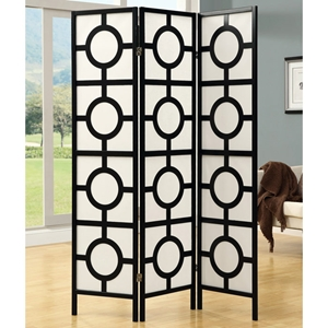Claiborne Contemporary Folding Screen - Black Frame
