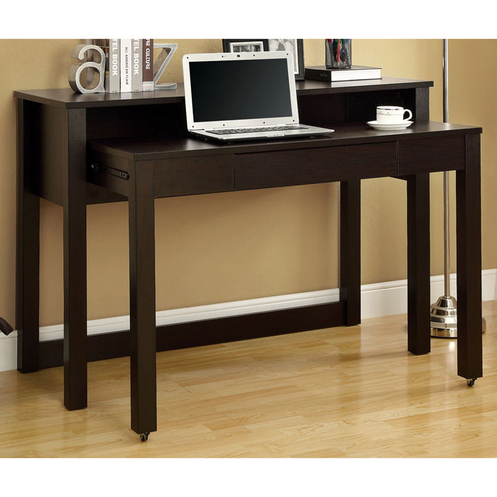 dwight contemporary nesting desk cappuccino finish dcg stores: home accents wall