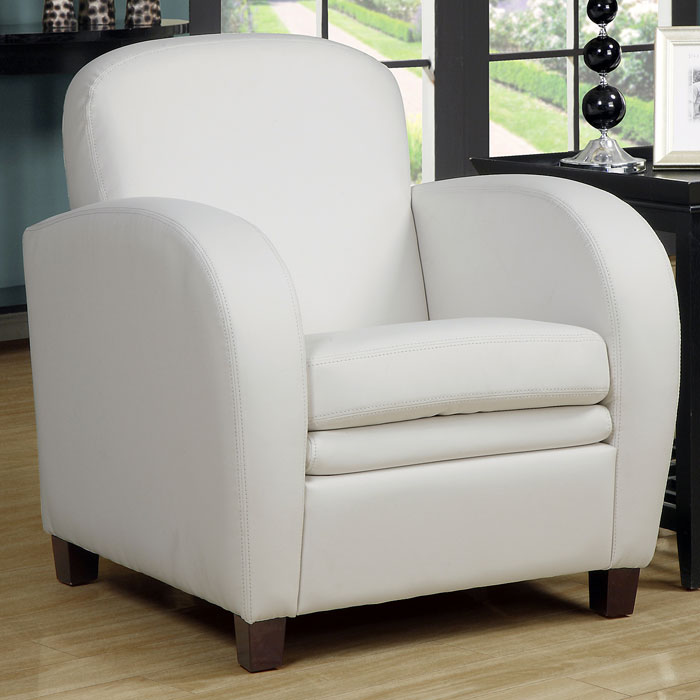 Coolidge Club Chair Curved Arms White Dcg Stores