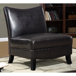 Mulligan Lounge Chair - Dark Brown, Splayed Legs