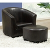 Awesome Piccoli Juvenile Club Chair And Ottoman Set Dark Brown Gmtry Best Dining Table And Chair Ideas Images Gmtryco