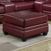 Hedberg Ottoman - Tapered Block Feet, Red Leather - MNRH-I-8300RD