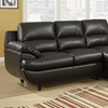 Roussel Sectional Sofa - Pillow Top Arms, Dark Brown Leather - MNRH-I-8435BR