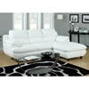 Roussel Leather Sectional Sofa - Pillow Top Arms, White - MNRH-I-8435WH