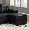 Michaelson Sectional Sofa - Right Facing Chaise, Black Leather - MNRH-I-8705BK