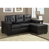 Michaelson Tufted Sectional Sofa - Dark Brown Leather - MNRH-I-8705BR