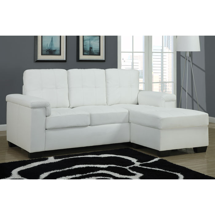 michaelson sectional sofa right facing chaise white leather dcg