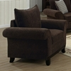 Lavanchy Chair - Rolled Arms, Chocolate Chenille Fabric - MNRH-I-8731CH
