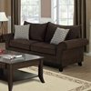 Lavanchy Sofa - Chocolate Chenille, 2 Accent Pillows - MNRH-I-8733CH