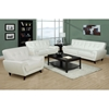 Eugene Armchair - Tufted Backrest, White Leather - MNRH-I-8801WH