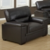 Artaud Leather Chair - Pillow Top Arms, Chocolate Brown - MNRH-I-8811BR