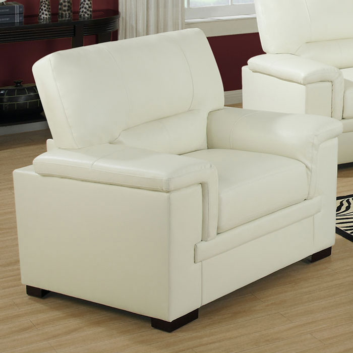 Artaud Leather Chair - Pillow Top Arms, Ivory - MNRH-I-8811IV