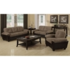 Alistair Storage Loveseat - Brown Microfiber, Pillow Top Armrests - MNRH-I-8922BR