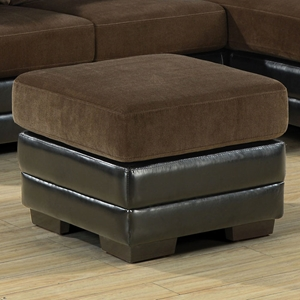 Remarque Square Ottoman - Chocolate & Dark Brown