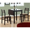 Compassion 3 Piece Dinette Set - Drop Leaf Top, Cappuccino - MNRH-I-1078