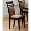 Courage Side Chair - Cappuccino Finish, Peat Microfiber (Set of 2) - MNRH-I-1198