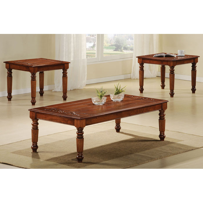 Patience 3 Piece Traditional Coffee Table Set Dark Oak Dcg Stores
