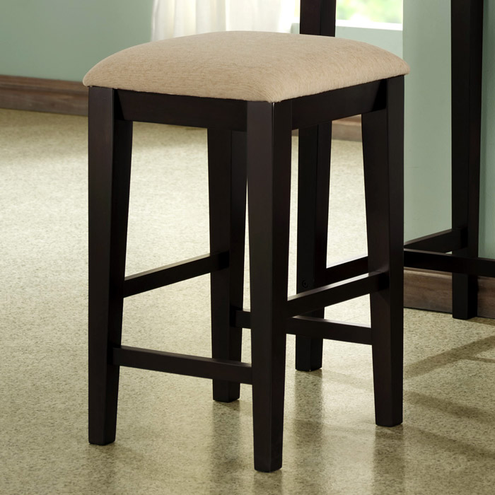 Wisdom Counter Height Backless Stool - Cappuccino (Set of 2) - MNRH-I-1360