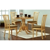 Serenity Slat Back Side Chair - Natural Finish, Beige Seat (Set of 2) - MNRH-I-1461