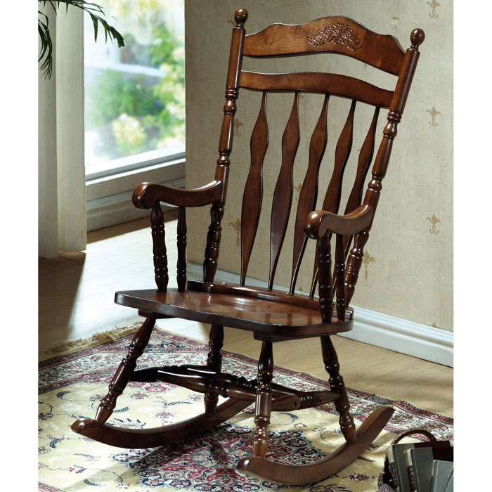 Happiness Rocking Chair - Turned Accents, Dark Walnut