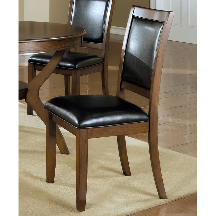 Integrity Side Chair - Dark Walnut, Black Seat & Backrest (Set of 2) - MNRH-I-1891