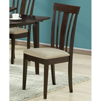 Logan Side Chair - Cappuccino Finish, Microfiber Seat