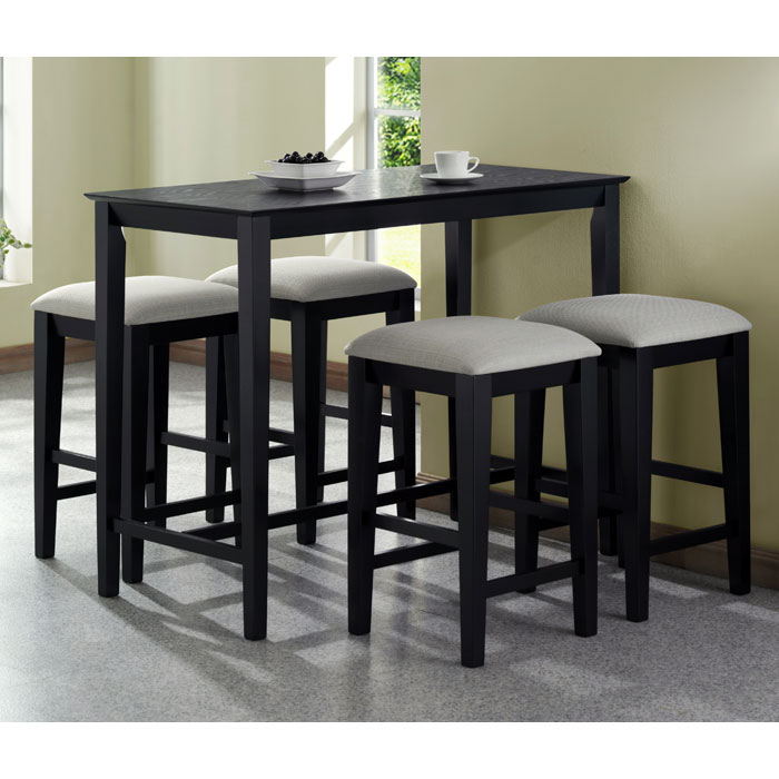 Destiny 24'' Backless Counter Stool - Black, Gray Seat (Set of 2) - MNRH-I-1920