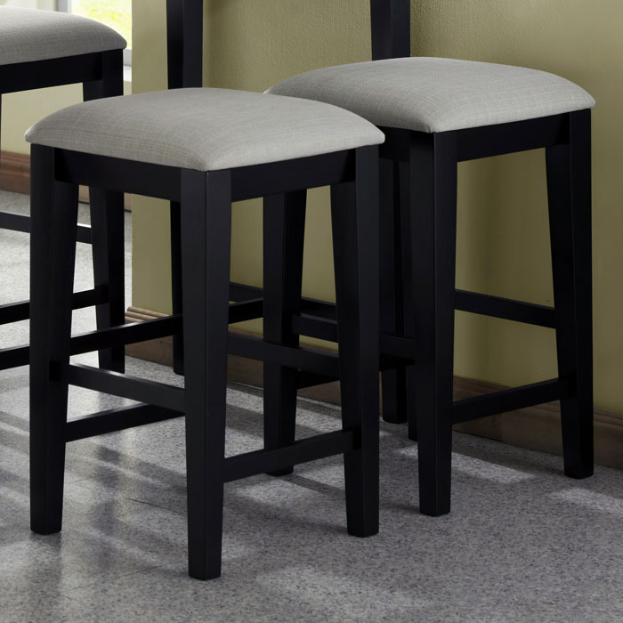 Destiny 24 Backless Counter Stool Black Gray Seat