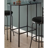 Whimsy Half Racetrack Top Pub Table - Charcoal Metal - MNRH-I-2325